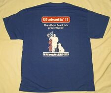 K9 ADVANTIX II Mens Shirt K9S For Warriors WOUNDED Soldiers Military BLUE XL DOG