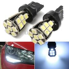 2x NO ERROR W21 5W T20 6000K White LED Daytime DRL Sidelight Bulbs Lamps CANBUS