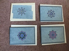 Beautiful Set of 4 Unique Handmade Teabag Blank Greeting Note Cards NEW