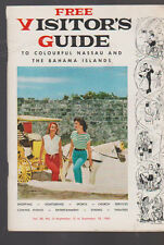 Visitor's Guide to Colourful Nassau & the Bahama Islands September 12 1960
