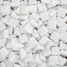 12mm Mosaic Glass Tiles - 4 Ounces About 90 Tiles - White