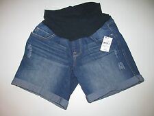 NWT Oh Baby by Motherhood Mid Belly Cuffed Jean Distressed Size Small Maternity