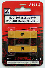 Rokuhan A101-2 Z Scale 40f Marine Container MSC 2 pcs