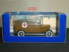 TINTIN NO.51 IN AMERICA BOOK COMIC DIECAST MODEL BROWN MEDIC AMBULANCE TRUCK
