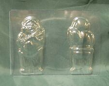 SMALL 3D FATHER CHRISTMAS / SANTA CHOCOLATE MOULD / MOLD - cake decorating
