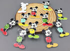20 Mickey Mouse wooden Buttons Fit Sewing Scrapbooking Buttons Mixed Colors 35mm