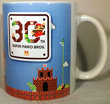 SUPER MARIO BROS 30th ANNIVERSARY - Coffee MUG - CUP - SNES NES N64 - Nintendo