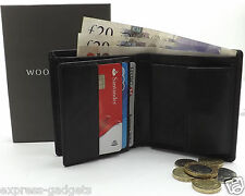 BRAND NEW MEN'S HIGH QUALITY BLACK LEATHER WALLET, CREDIT CARD HOLDER, PURSE
