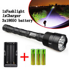 40000 Lumens CREE XML T6 5 Mode Super Bright LED Tactical Flashlight Torch Light