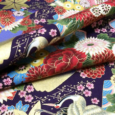 1/2YD Oriental Asian Japanese Style kimono  fabric sewing - purple#207