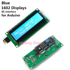 Blue Arduino IIC/I2C/TWI DC 5v 162 16X2 1602 Displays Serial LCD Module Screen