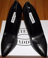 $120 STEVE MADDEN BLACK LEATHER PUMP SZ 7.5M US