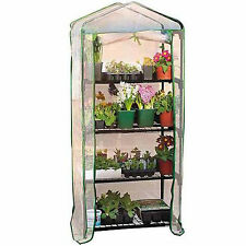 4 TIER COLD FRAME MINI GREENHOUSE COLDFRAME PVC COVER GARDEN OUTDOORS PLANTS