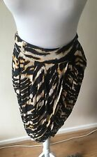 River Island Leopard Print Wrap Skirt Size 10 Worn Once
