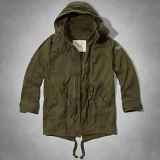 NWT Abercrombie & Fitch Men's Jacket Tupper Lake Twill Fishtail Parka Sz XL