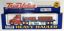 K LINE TRUE VALUE HARDWARE SEMI FLATBED TRACTOR TRAILER  TRUCK  1/43  On30 On3