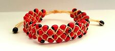 Beautiful Handmade, Adjustable, Huayruro bracelet Good Luck charm