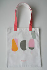 RADLEY - LOLLIPOPS - NATURAL COTTON CANVAS TOTE / SHOPPER BAG - PEACH RADLEY DOG