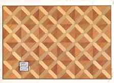 Faux Parquet Wood 34604 floor sheet dollhouse 1pc World & Model card stock