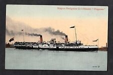 C1910 View of Niagara Navigation Co's paddle steamer 'Chippewa'