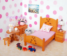 1/12 Dollhouse Miniature Furniture Bedroom Set 6PCS Children Lovely Bear WB014