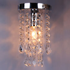 Chrome Crystal Droplets Pendant Light Lighting Silver Chandelier Fitting Lamp SM