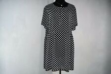 NWOT Ladies Stunning Sheer B&W Spotted Dress. ONE SIZE. Free Postage.