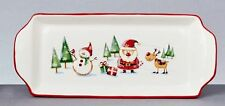 Christmas Tableware Ceramic Santa & Friends 33cm Oblong Serving Plate Dish NEW