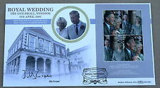 ROYAL WEDDING M/S 2005 BENHAM FDC SIGNED BY THE AUTHOR JILLY COOPER