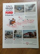 1951 Ford Ad Pin Point the Extra Values & you'll Pick a Ford for the Years Ahead