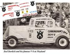 CD_1425 #V8 Bud Burdick  1932 Ford Coupe    1:64 scale decals   ~OVERSTOCK~