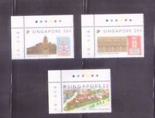 Singapore 1993  Conservation of Tanjong Pagar District, Complete 3V MNH w/Margin