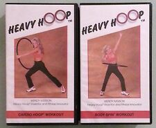 wendy iverson heavy hoop CARDIO / BODY SPIN HOOP WORKOUT  VHS VIDEOTAPE LOT