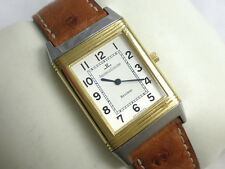 Jaeger LeCoultre REVERSO 18k gold & STEEL Mens Watch 250.5.08