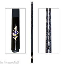 BALTIMORE RAVENS NFL TEAM BILLIARD GAME POOL TABLE CUE STICK with FREE CASE