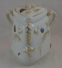 Haviland Limoges Butterfly In Meadow Covered Sugar Ironstone