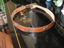 NEW SILVER CREEK COLLECTION LEATHER BELT with SILVERPLATE ANIMAL FIGURES Sz 30