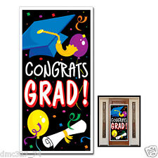 """Graduation Party Decoration CONGRATS GRAD Door Wall Mural Cover 30"""" x 60"""""""