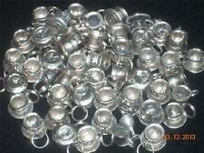 Wholesale Lot #304 Tea Cup & Saucer Pewter Charm Pendant Earring Key Chain Craft