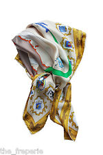 *PUCCI* VINTAGE SILK TWILL SCARF DEPICTING  ITALIAN AIR FORCE COATS OF ARMS