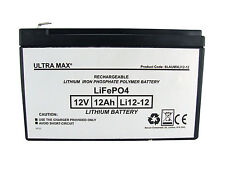 RBC4 Replacement Battery RBC 4 for APC 650 etc UPS - Ultramax 12v 12Ah LITHIUM