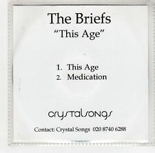 (GJ217) The Briefs, This Age - DJ CD