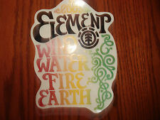 ELEMENT RARE OLD OUT OF PRINT CRAZY VINES DIE CUT LARGE SKATEBOARD STICKER