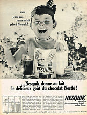 PUBLICITE ADVERTISING 064  1965  NESQUICK   petit déjeuner chocolaté