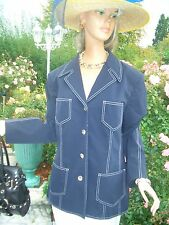 LUXUS Maritim Escada Couture STATEMENT JEANS Blazer blau 44/46 NP1180,-gold Golf