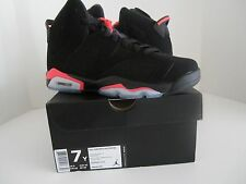 2014 NIKE AIR JORDAN VI 6 RETRO BLACK INFRARED PINK WHITE SIZE 7Y