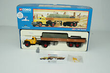CORGI #56301 DIAMOND T620 SEMI FLATBED W/ CANVAS & OIL DRUMS, 1:50 SCALE, NIB