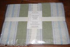 NWT Williams Sonoma Capri Striped 4 PlaceMats Green White Linen Cotton NEW $49