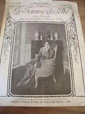 """ANCIENNE REVUE MODES """"LA FEMMES CHEZ ELLE""""  PLANCHE BRODERIE N°229 1918"""