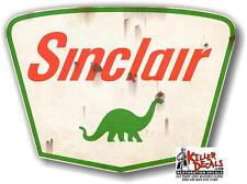 "(SINC-7R) 6"" RUSTY SINCLAIR SHIELD decal lubster gas pump gasoline oil man cave"